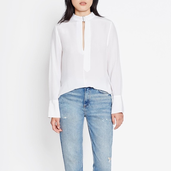 3f389d917e1af EQUIPMENT JANELLE COLLARED LONG-SLEEVE SILK BLOUSE